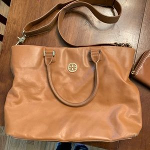 Troy Burch satchel with wallet